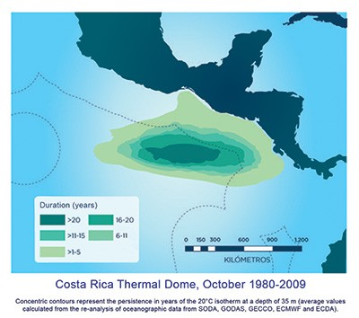 Costa Rica Thermal Dome map