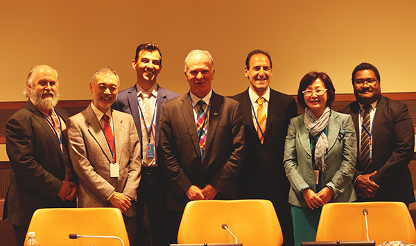 Speakers at the EBSA side event during the UN Ocean Conference, New York, 8 June 2017